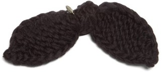 Lafayette House Of Bambou Bow-trim Alpaca Hair Tie - Womens - Black