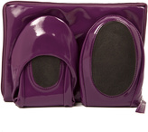 CitySlips Purple Patent Foldable Ballet Flats & Carrying Case