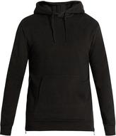Balmain Side-zip hooded cotton sweatshirt