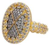 Freida Rothman Contemporary Deco CZ Embellished Cocktail Ring
