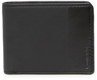 Steve Madden Two-Tone Leather Billfold Wallet