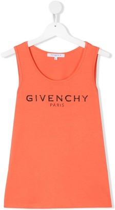 Givenchy Kids TEEN logo-print sleeveless top