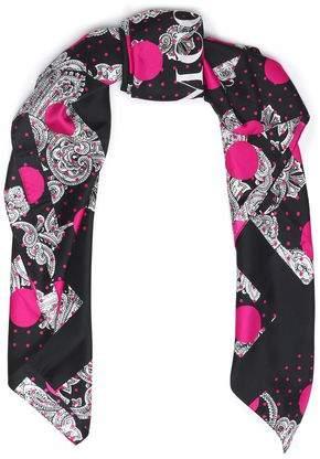 McQ Printed Silk-Twill Scarf
