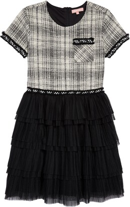 BCBG Girls Boucle Ruffle Dress