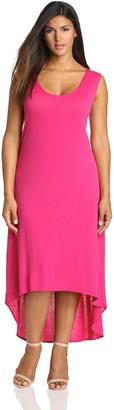 Star Vixen Women's Plus-Size Keyhole Back Sleeveless Maxi