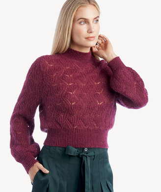 Astr Women's Audra Sweater In Color: Plum Size XS From Sole Society
