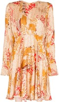 By Ti Mo Bytimo floral pattern pleated mini dress