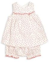 Petit Bateau Baby's Two-Piece Dress & Bloomers Set
