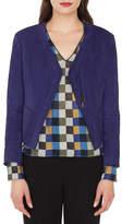 Akris Sara Zip-Front Lamb Suede Cardigan-Style Jacket
