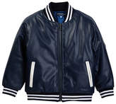 Andy & Evan Faux Leather Bomber Jacket (Toddler & Little Boys)