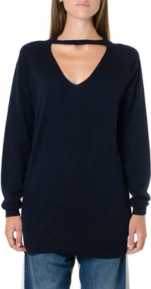 Maison Margiela Black Cashmere Oversize Cut Out Knitwear