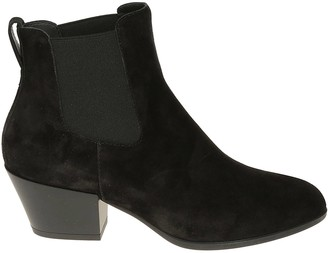 Hogan Elasticated Side Panel Ankle Boots