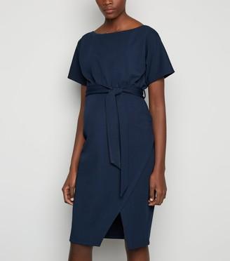 New Look Maternity Batwing Tie Waist Midi Dress