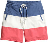 H&M - Striped Swim Shorts - Blue - Men