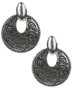 Patricia Nash Etched Doorknocker Earrings