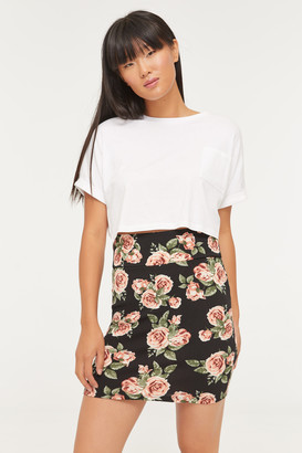 Ardene Bodycon Floral Mini Skirt