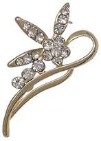 AJ Fashion Jewellery ADELAIS tone Crystal Brooch