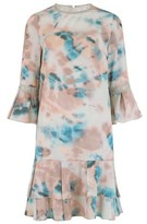 Dorothy Perkins Womens Little Mistress Multi Colour Lace Detail Soft Smudge Print Shift Dress, Multi Colour