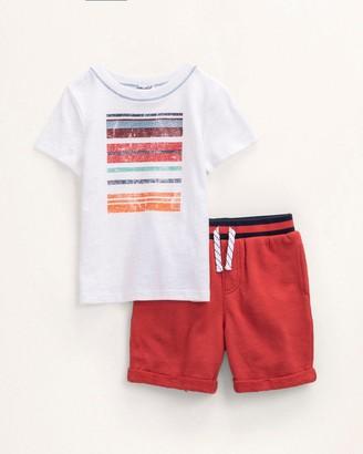 Splendid Toddler Boy Stripe Screen Tee Set