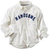 """Carter's Little Boys' """"Handsome"""" Woven Button-Down Shirt (4-Toddler)"""