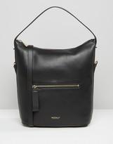 Modalu Leather Bucket Shoulder Bag In Faux Lizard Mix