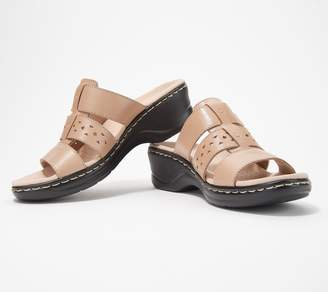 Clarks Collection Leather Slide Sandals - Lexi Juno