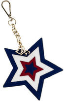 Diane von Furstenberg Leather Star Keychain