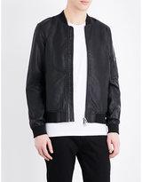 Topman Topman Faux-leather Bomber Jacket
