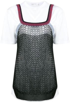 Victoria Beckham oversized layered T-shirt