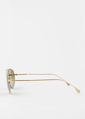 Paul Smith Shiny Gold 'Drake' Sunglasses