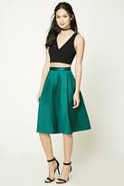 Forever 21 FOREVER 21+ Pleated A-Line Skirt