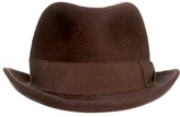 Burgundy Homburg Hat