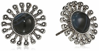 Chaps Button Stud Earrings
