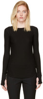 Helmut Lang - T-shirt côtelé noir