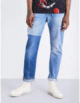 Gucci Contrast-panel Regular-fit Tapered Mid-rise Jeans