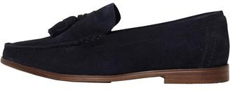 Onfire Mens Suede Tassel Loafer Shoes Navy