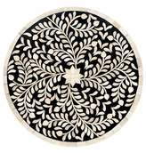 Mela Artisans Imperial Beauty Round Charger in Black & White