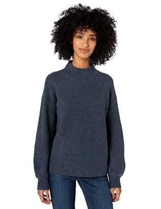 Goodthreads Boucle Half-cardigan Stitch Balloon-sleeve SweaterS