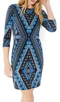 Karen Kane Women's Diamond Print Jersey Sheath Dress