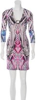 Roberto Cavalli Printed Three-Quarter Sleeve Dress