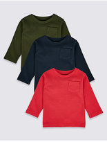 Marks and Spencer 3 Pack Pure Cotton T-Shirts