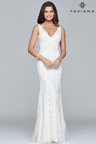 Faviana Embroidered Lace Evening Gown s8089