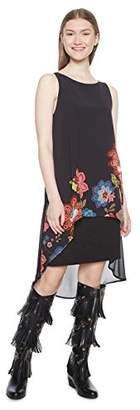 Desigual Women's Vest_caribou Sleeveless Dress, Black (Negro 2000), 16 (Manufacturer Size: )