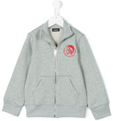 Diesel logo print jacket - kids - Cotton - 2 yrs