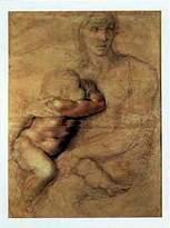 Michelangelo 1art1 Posters Buonarroti Poster Art Print - Madonna Col Bambino (35 x 24 inches)
