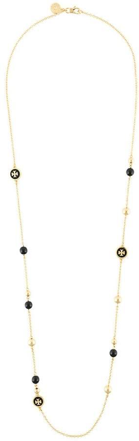 Tory Burch long logo necklace