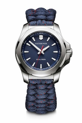 Victorinox Women's I.N.O.X. V - Swiss Made Blue Analog Quartz Stainless Steel Blue Rubber Watch 241770