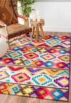nuLoom Geometric Soft Southwestern Tribal Diamonds Area Rug