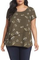 Sejour Plus Size Women's Asymmetrical Double Layer Top