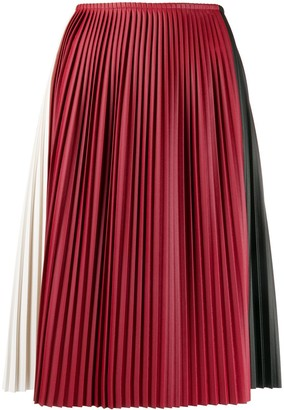 Plan C colour-block pleated skirt